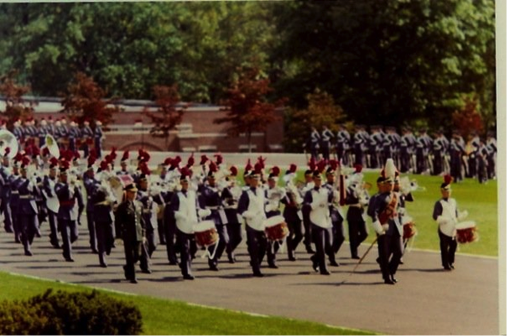 The Regimental Band on Parade